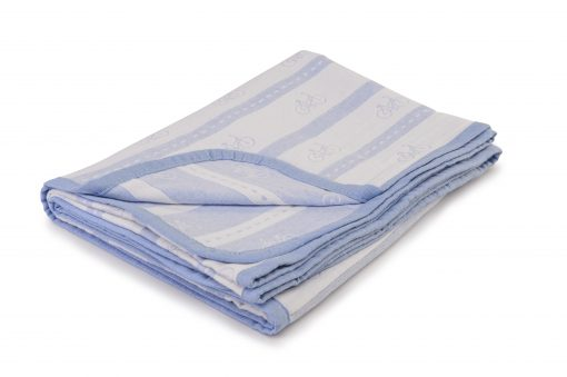 Baby Bicycles Blue Throw