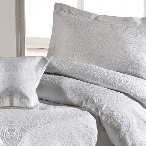 Stowe White Duvet Cover